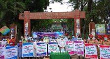 পটুয়াখালী সরকারি কলেজে মুজিববর্ষ উপলক্ষে মাস্ক-স্যানিটাইজার বিতরণ