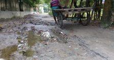 শ্রীনগরে রুদ্রপাড়ায় বেহাল রাস্তা, ভোগান্তি চরমে